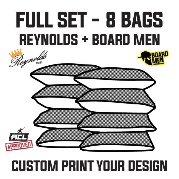 Reynolds/Board Men – Pro-Edge 2 – Custom Printed Cornhole Bags – ACL Approved Full Set (8 Bags)