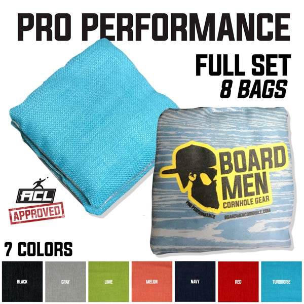 Pro Performance Cornhole Bags – ACL Approved Full Set (8 Bags)