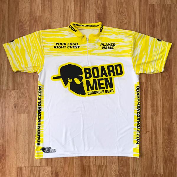 customized board men cornhole player jerseys